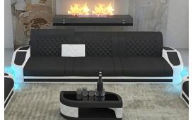 Divano di design a 3 posti DIABLO con illuminazione a LED e presa USB