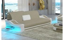 Canapé design 2 places DIABLO avec éclairage LED & port USB