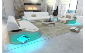 Canapé Design DIABLO 3+2+1avec éclairage LED & port USB