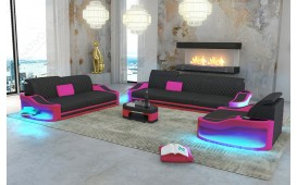 Canapé Design DIABLO 3+2+1avec éclairage LED & port USB NATIVO™ Möbel Schweiz