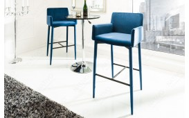 Sgabello da bar TORINO ROYAL BLUE