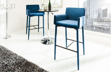 Designer Barhocker TORINO ROYAL BLUE NATIVO™ Möbel Schweiz