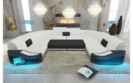 Canapé Design DIABLO CORNER U FORM avec éclairage LED & port USB NATIVO™ Möbel Schweiz