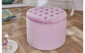 Designer Sitzhocker ROCCO BIG LILA 50 cm