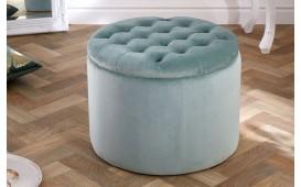 Designer Sitzhocker ROCCO BIG MINT 50 cm
