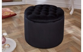 Pouf di design ROCCO BIG BLACK 50 cm NATIVO™ Möbel Schweiz