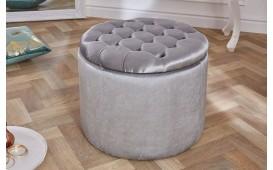 Designer Sitzhocker ROCCO BIG SILVER 50 cm NATIVO™ Möbel Schweiz