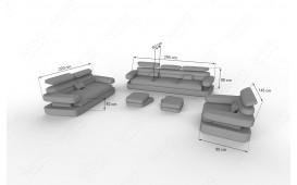 Divano di design EXODUS 3+2+1con illuminazione a LED e presa USB NATIVO™ mobili Italia