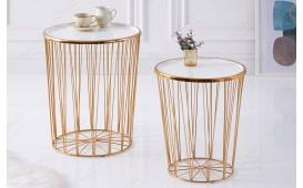 Designer Couchtisch CAGE LUX SET 2 WHITE-GOLD NATIVO™ Möbel Schweiz