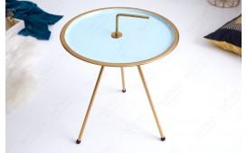 Designer Beistelltisch SIMPLY BRIGHT TIRKIZ-GOLD 42 cm