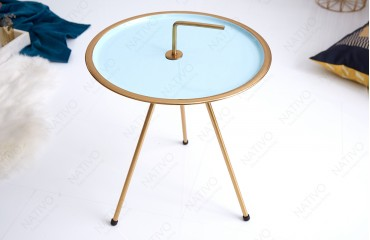 Designer Beistelltisch SIMPLY BRIGHT TIRKIZ-GOLD 42 cm NATIVO™ Möbel Schweiz