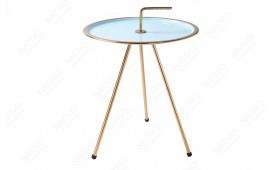 Table d'appoint Design SIMPLY BRIGHT TIRKIZ-GOLD 42 cm