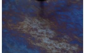 Designer Beistelltisch SIMPLY BRIGHT BLUE-GOLD 42 cm NATIVO™ Möbel Schweiz
