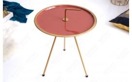 Designer Beistelltisch SIMPLY BRIGHT CORAL-GOLD 42 cm