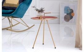 Designer Beistelltisch SIMPLY BRIGHT CORAL-GOLD 42 cm NATIVO™ Möbel Schweiz