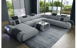 Designer Sofa VERSUS XXL mit LED Beleuchtung & USB Anschluss