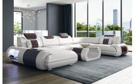 Designer Sofa VERSUS XL mit LED Beleuchtung & USB Anschluss