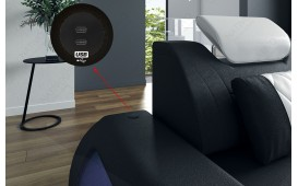Canapé Design VERSUS XL avec éclairage LED & port USB