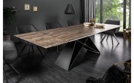 Designer Esstisch CRONOS ROST 180-260 cm