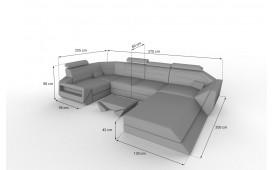 Canapé Design AVATAR XL avec éclairage LED & port USB NATIVO™ Möbel Schweiz