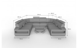 Divano di design AVATAR CORNER U FORM con illuminazione a LED e presa USB NATIVO™ Möbel Schweiz