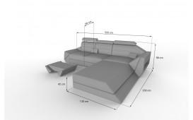 Canapé Design AVATAR MINI avec éclairage LED & port USB NATIVO™ Möbel Schweiz