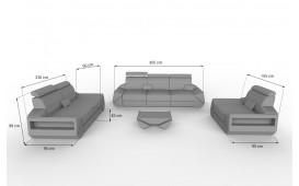 Canapé Design 3 places AVATAR avec éclairage LED & port USB NATIVO™ Möbel Schweiz