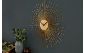 Designer Wanduhr SUN GOLD 50 cm