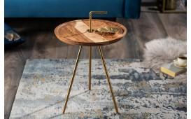 Designer Beistelltisch SIMPLY GOLD 36 cm