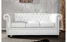 Canapé CHESTERFIELD WHITE 3 Places NATIVO™ Möbel Schweiz