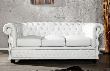 Divano Chesterfield 3 Posti.Divano 3 Posti Chesterfield White Nativo Showroom
