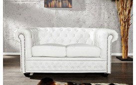 Divano CHESTERFIELD WHITE 2 posti NATIVO™ Möbel Schweiz
