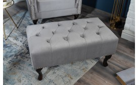 Pouf di design CHESTERFIELD SILVER GREY