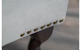 Designer Sitzhocker CHESTERFIELD SILVER GREY NATIVO™ Möbel Schweiz