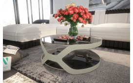 Table basse Design INFINITY (silver)