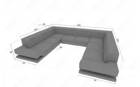 Designer Sofa ROUGE CORNER U FORM mit LED Beleuchtung & USB Anschluss NATIVO™ Möbel Schweiz