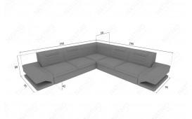 Designer Sofa ROUGE CORNER mit LED Beleuchtung & USB Anschluss NATIVO™ Möbel Schweiz