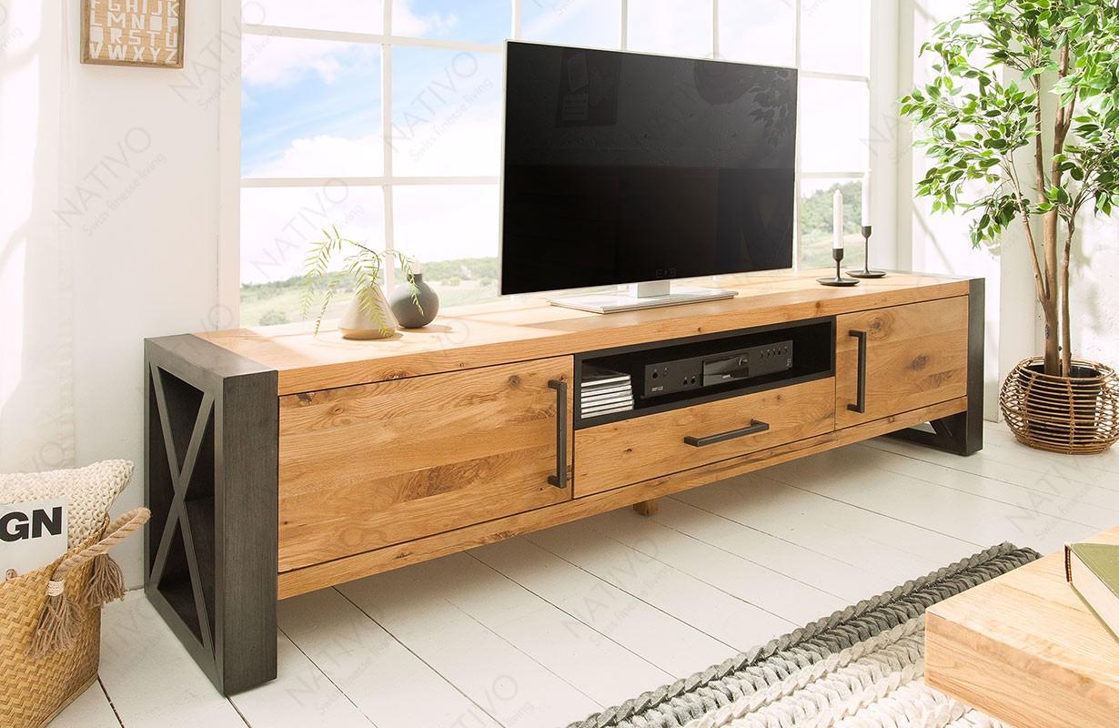 Mobile TV in legno TORAH 200 cm NATIVO mobili soggiorno