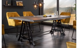 Table Design TAURUS INDUSTRIAL 220 cm GREY