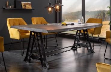 Table Design TAURUS INDUSTRIAL 220 cm GREY
