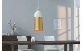 Designer Hängeleuchte MOD I 31 cm WHITE-GOLD NATIVO™ Möbel Schweiz