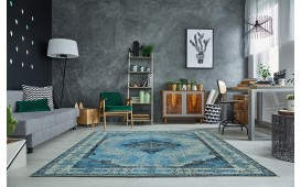 Designer Teppich ESTE BLUE
