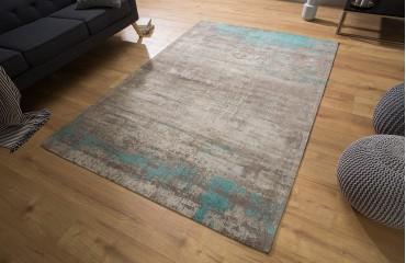Designer Teppich NOVEL BEIGE-BLUE NATIVO™ Möbel Schweiz