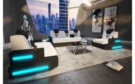 Canapé Design NEMESIS 3+2+1 avec éclairage LED & port USB