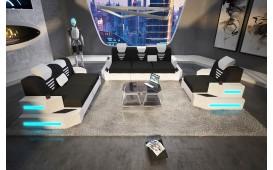 Divano di design NEMESIS 3+2+1 con illuminazione a LED e presa USB
