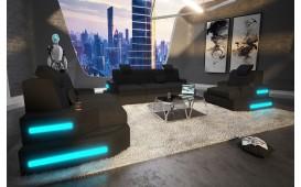 Designer Sofa NEMESIS 3+2+1 mit LED Beleuchtung & USB Anschluss NATIVO™ Möbel Schweiz