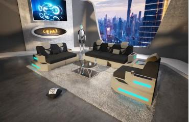 Designer Sofa NEMESIS 3+2+1 mit LED Beleuchtung & USB Anschluss NATIVO™ Möbel Schweiz NATIVO™ Möbel Schweiz