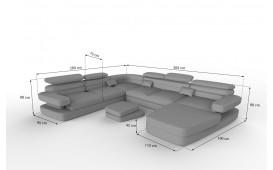 Designer Sofa EXODUS XXL mit LED Beleuchtung & USB Anschluss NATIVO™ Möbel Schweiz