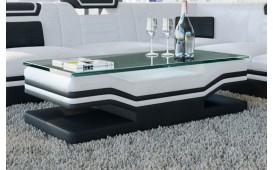 Table basse Design ROUGE (Blanc / Noir) - EN STOCK