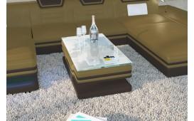 Designer Couchtisch ROUGE (Magnolia / Dunkelbraun) AB LAGER NATIVO™ Möbel Schweiz